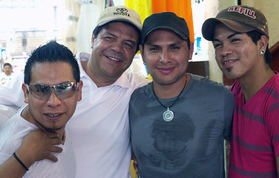 June 2012 Mazatlán  El Mercado. These guys insisted on getting their picture taken. Who was I to argue?
