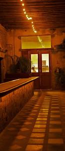 Mazatlán  January 2013  El Presidio – Cocina de Mexico inside Casa Garcia. The restaurant has a fabulous courtyard. Casa Garcia, a large house painted a soft grey, has been sitting on the corner of Mariano Escobedo and Niños Heroes since 1876